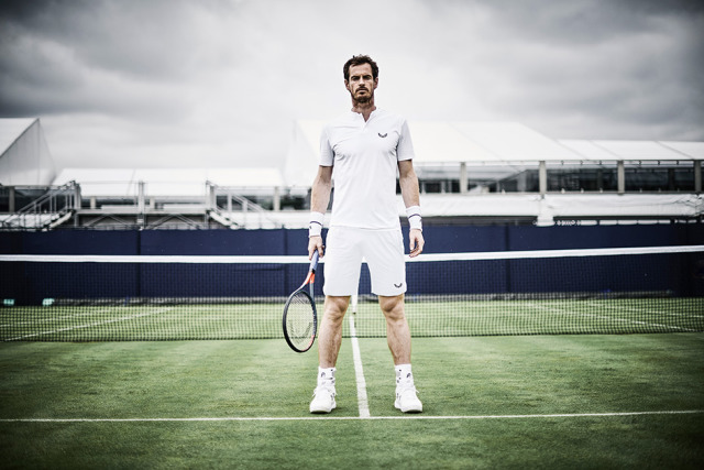 Andy Murray taken at Queens lawn tennis club in conjunction with the launch of the ACM range for Castore sports wear gallery