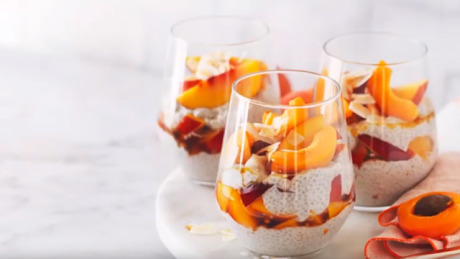 Easy chia pudding recipe made with nectarines and apricots gallery