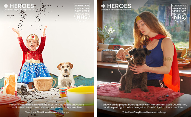 Photo: NHS Heroes by Simon Webb / Trevor Ray Hart gallery